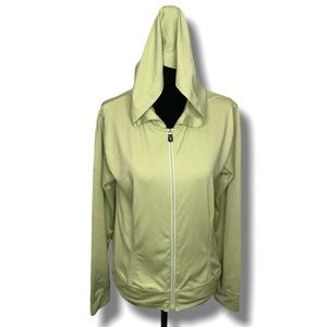 LOLE LIME GREEN FULL ZIP TRACK JACKET/HOODIE SZ L